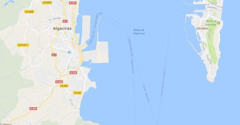 La costa de Algeciras (Cádiz), donde se han hallado los cadáveres de cinco inmigrantes.
