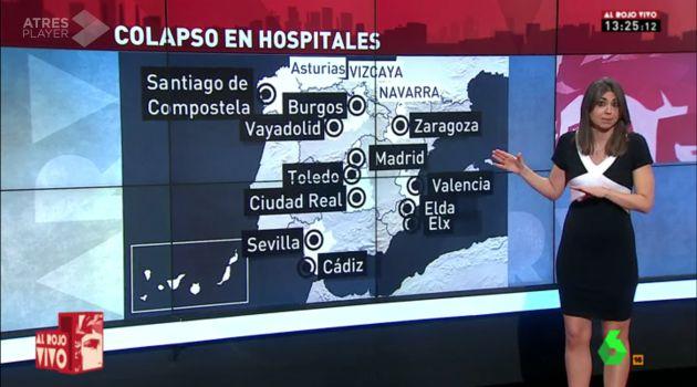 'Vayadolid', en un mapa de 'Al Rojo Vivo'.