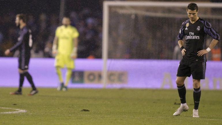 Cristiano Ronaldo, en un momento del partido de vuelta de cuartos de final en el que el Real Madrid ha quedado eliminado de la Copa.