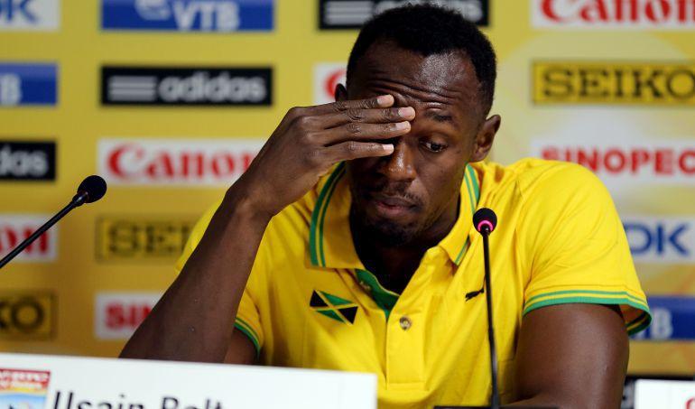 Usain Bolt, durante una rueda de prensa