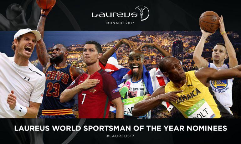Los nominados al Premio Laureus a mejor deportista del año