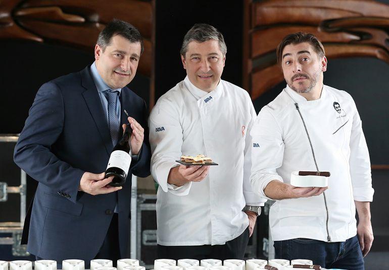 Josep, Joan y Jordi Roca, durante la presentación de su nueva gira.