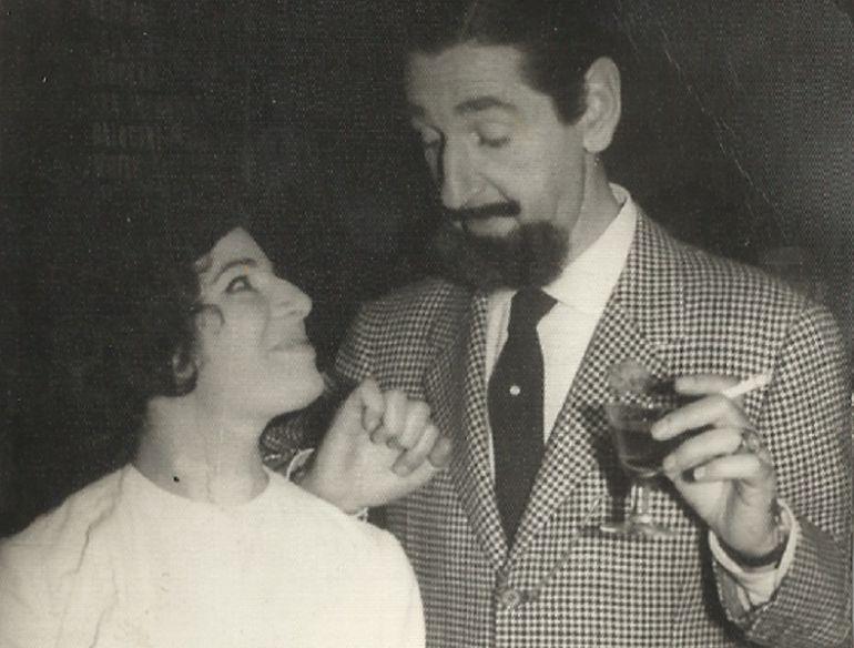 Maria Dolors Boadas junto al aristócrata y actor Jaime de Mora.