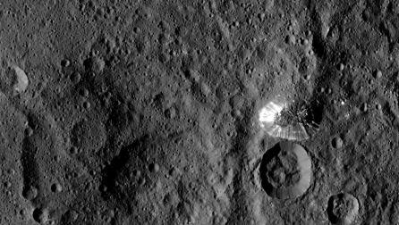 Superficie del planeta Ceres capatada por la NASA.