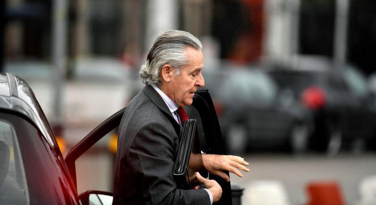 El expresidente de Caja Madrid Miguel Blesa, a su llegada a la sede de la Audiencia Nacional en San Fernando de Henares