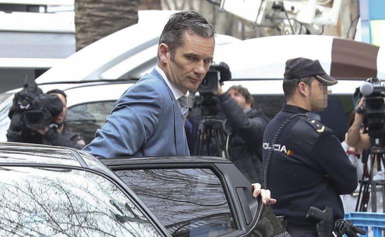 El marido de la infanta Cristina, Iñaki Urdangarin, llega a la Audiencia de Palma