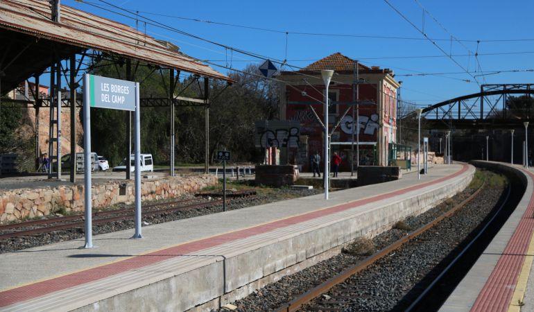 La estación ferroviaria de Les Borges del Camp.