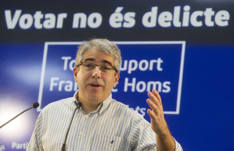 El portavoz del PDeCat en el Congreso, Francesc Homs