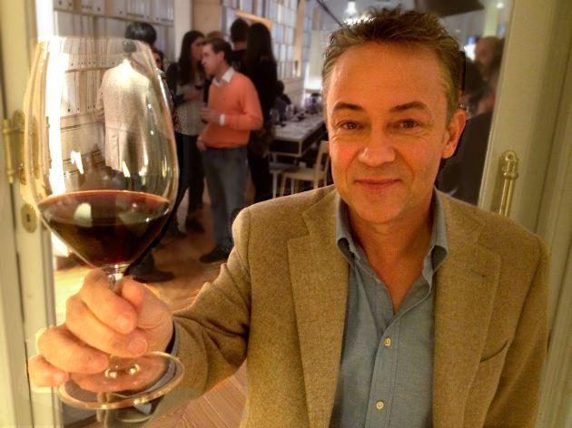 Sergio Sauca, tras la presentación de WineLightBox.