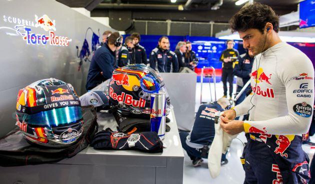 El piloto español de Toro Rosso Carlos Sainz.
