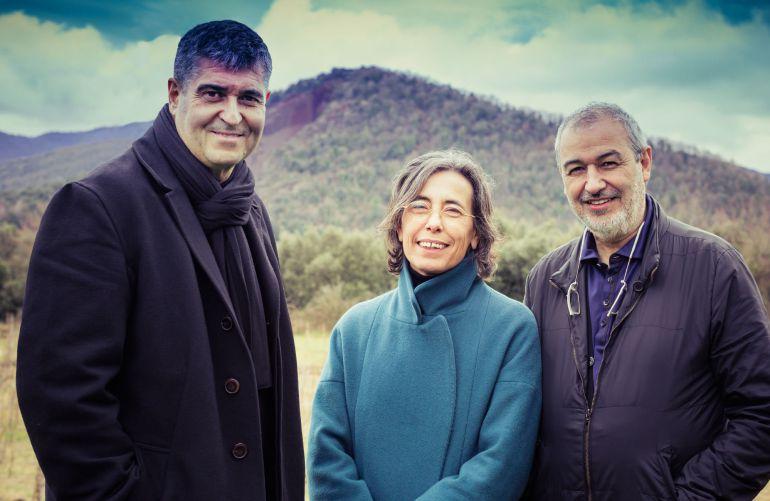 Los arquitectos Rafael Aranda, Carme Pigem y Ramon Vilalta.