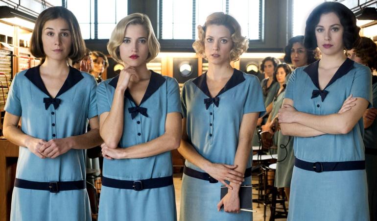 El cuarteto protagonista de 'Las chicas del cable'