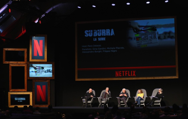 El panel de 'Suburra', la serie original de Italia