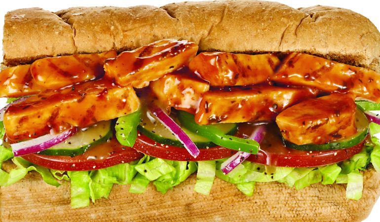 El 'Sweet Onion Chicken Teriyaki' es el bocadillo con menor cantidad de carne.