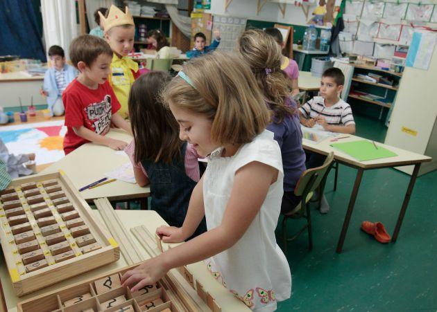 Clase con el método Amara Berri en la escuela pública San Agustín de Tenerife.