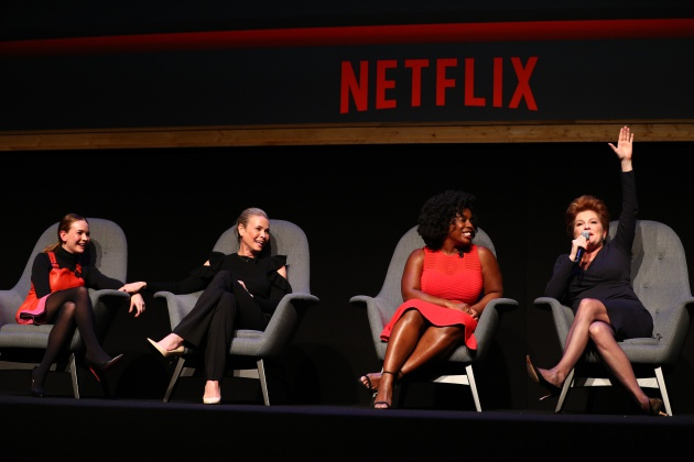 Las cuatro protagonistas del panel 'Strong Female Lead's' de Netflix