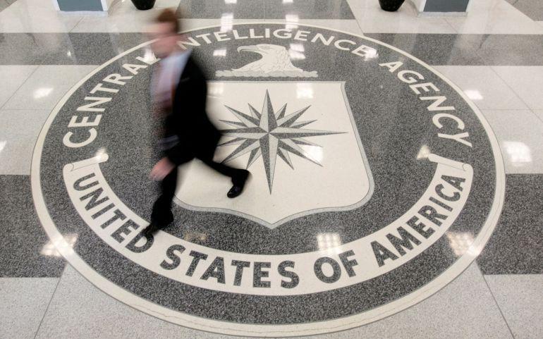 El lobby de la sede central de la CIA en Langley, Virginia, en Estados Unidos