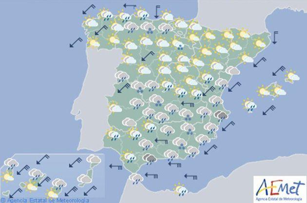 Mapa elaborado por la Agencia Estatal de Meteorología (AEMET).