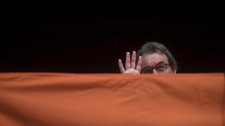 El expresidente de la Generalitat Artur Mas, durante su participación en un acto de Òmnium Cultural en Hospitalet de Llobregat (Barcelona)