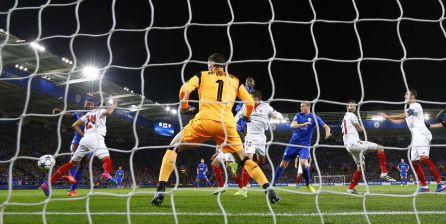 Momento del gol de Morgan.