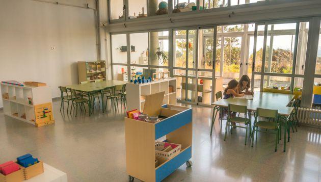 Aula del colegio Rosa del Vents, en Mallorca.
