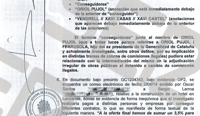 """Los últimos informes de Guardia Civil y Fiscalía Anticorrupción señalan también al hijo menor de los Pujol, Oriol Pujol, como """"conseguidor"""" de obra pública."""