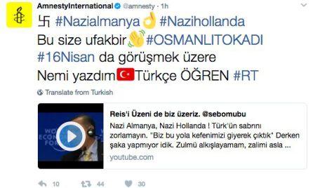 La cuenta hackeada de Amnistía Internacional.