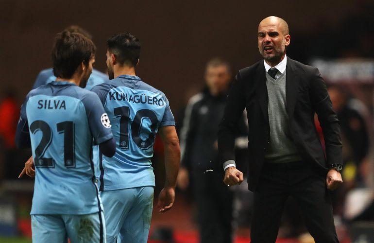 Guardiola grita a sus jugadores