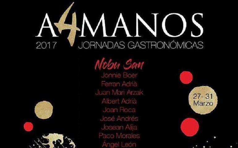 Cartel de las jornadas gastronómicas A4MANOS 2017.