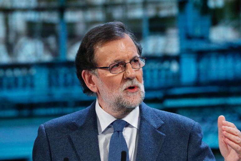El presidente del Gobierno, Mariano Rajoy, durante su intervención en el XVI Congreso del PP de Madrid