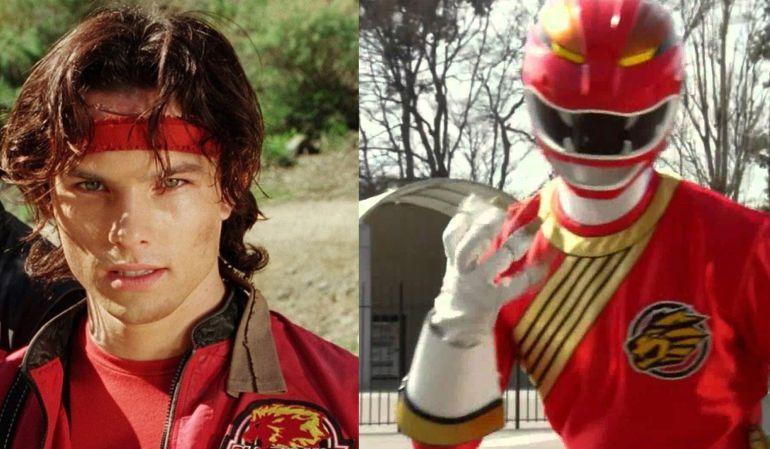 Medina como Power Ranger rojo.
