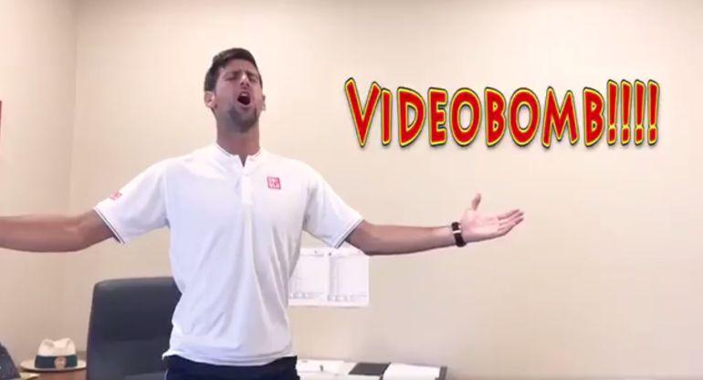 Djokovic, en plena actuación