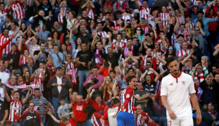 Griezmann celebra su gol.