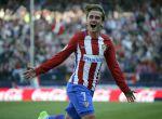 Griezmann celebra un gol en el Calderón