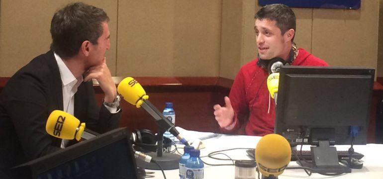 Robert Fernández, durante la entrevista con Sique Rodríguez