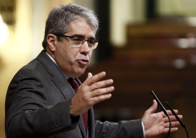 El diputado de PDeCAT Francesc Homs, durante su intervención en el pleno del Congreso de los Diputados