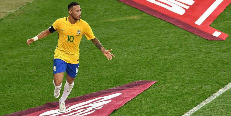 Neymar Jr., con la selección de Brasil.