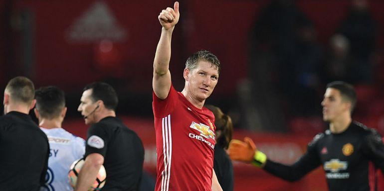 Bastian Schweinsteiger, con la camiseta del Manchester United.