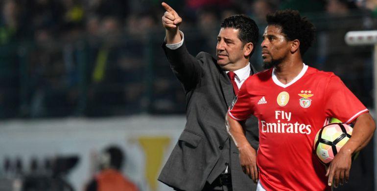 Rui Vitória, en un partido de la Champions con el Benfica.