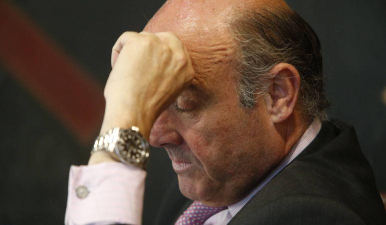 Imagen del ministro de Economía, Luis De Guindos, durante la entrevista con Cinco Días