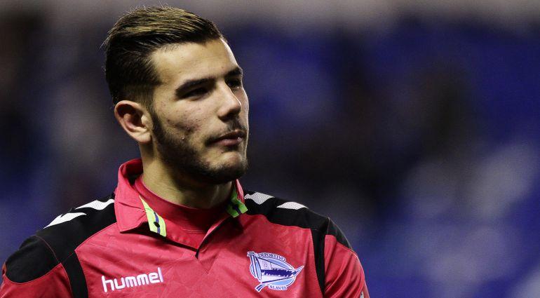 Theo Hernández, durante un partido con el Alavés