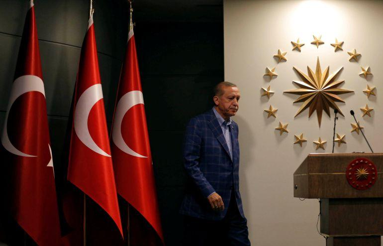 El presidente de Turquía Recep Tayyip Erdogan.
