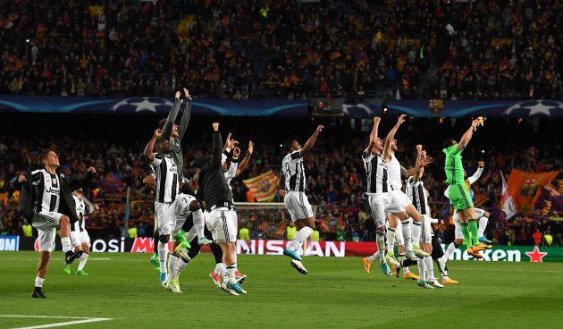 La Juventus celebra su pase a semifinales.