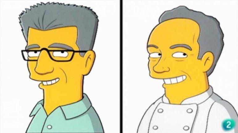 Ferran Adrià, dibujado por los creadores de 'Los Simpson'.