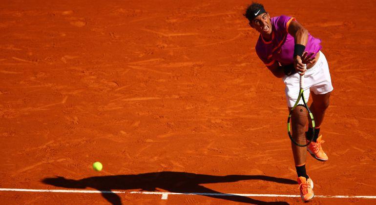 Rafa Nadal, en su partido ante Alexander Zverev.