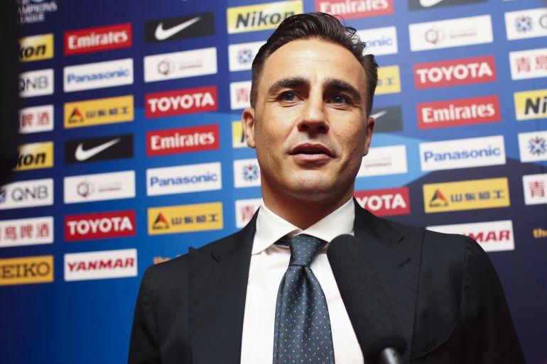 Fabio Cannavaro en una rueda de prensa