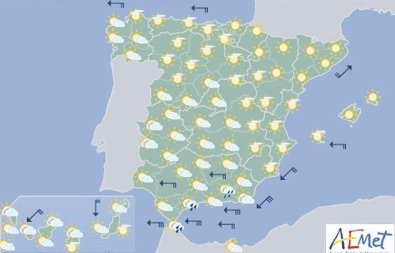 Mapa elaborado por la Agencia Estatal de Meteorología.