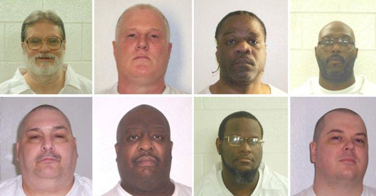 Los presos que esperan ser ejecutados antes de que acabe el mes en Arkansas