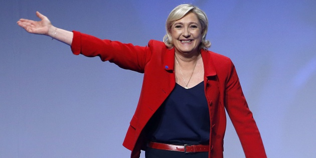 La candidata Marine Le Pen.