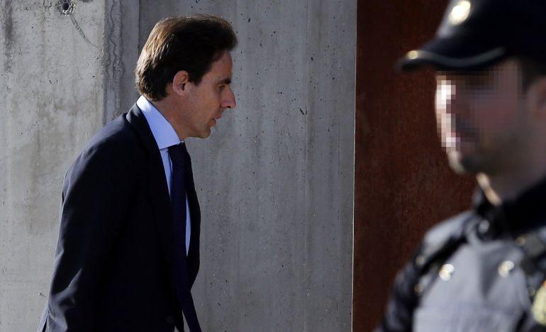 El empresario Javier López Madrid, a su llegada a la Audiencia Nacional durante las declaraciones del juicio por las tarjetas black de Caja Madrid